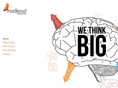 InsideOut Associates Branding & Illustrations illustration butterfly colorful brain bold clean hand crafted doodle drawn