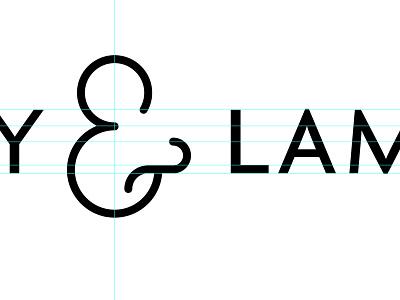 WIP - Ampersand ampersand logo black and white grid