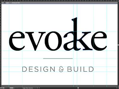 evoake identity ligature ampersand evoake serif sans serif monochrome guides