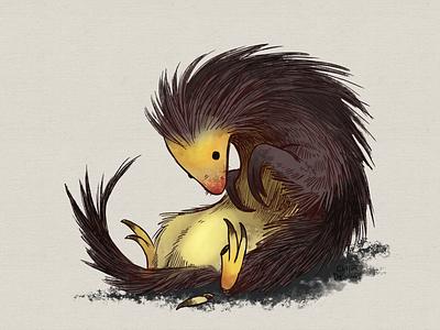 Porcupine/Pangolin digital illustration creature character design character animal illustration illustration