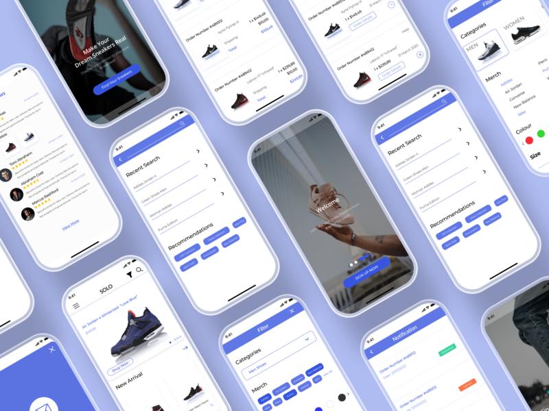 Solo: E-Commerce App mobile mobile design ui kits e-commerce design e-shop uidesign ui e-commerce app e-commerce