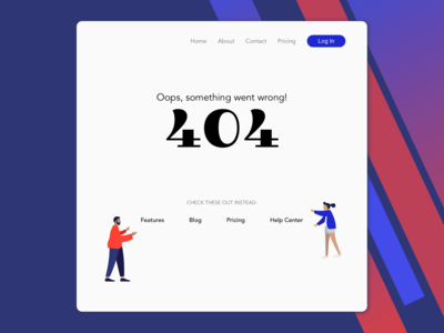 Daily UI Day 8 - 404 Page