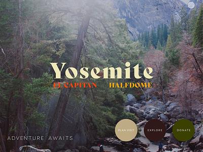 Yosemite Landing Page el capitan halfdome ui design ux design ui ux loading animation animation adobe lightroom lightroom adobe xd yosemite