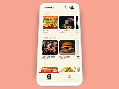 Recipe App- Add to My Recipes auto animate rotato recipe app cookbook mobile design app design ux design ui design ux ui daily creative challenge adobe xd