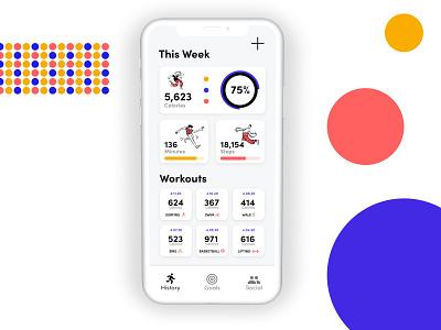 Workout App design challenge workout web app design adobe xd ux design ux ui design ui