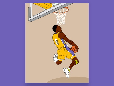 Kobe heroes hero basketball procreate design illustration kobe kobe bryant