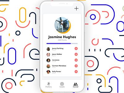 Workout App- Social workout app 100 day challenge vector icon adobe xd ux design design ux ui design ui