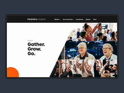 Friends Church About webflow church web design branding adobe xd ux design ux ui design ui