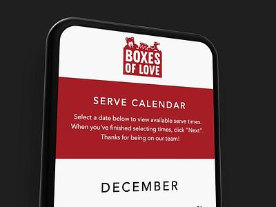 Boxes of Love App web design web app minimal web adobe xd app design ux design ux ui design ui