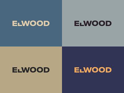 Elwood Design Co Branding Concept web minimal freelance woodworking illustrator adobe xd branding icon typography vector logo design