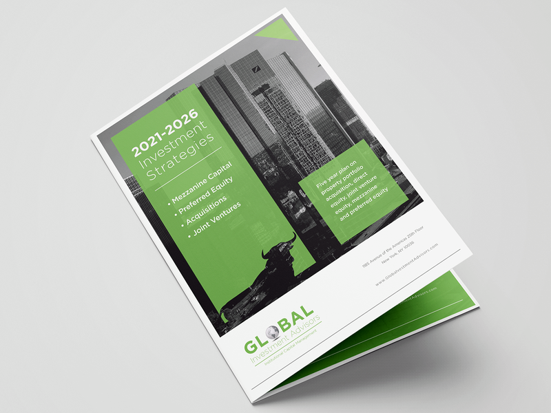 Capital Investment Presentation presentation design adobe indesign brochure design