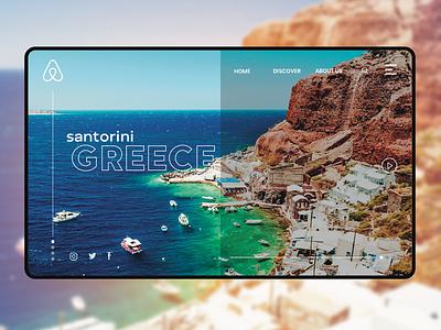 Santorini, Greece landing page airbnb website design webdesign web design ux design website uxui uiuxdesign uiux design web ux ui