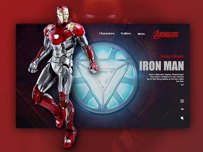 Iron man web ux ui