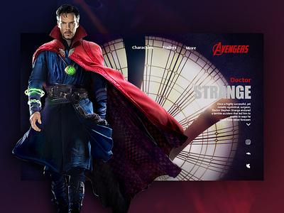 DOCTOR STRANGE uxui avengers doctor strange uiux uiuxdesign website ux design web ui