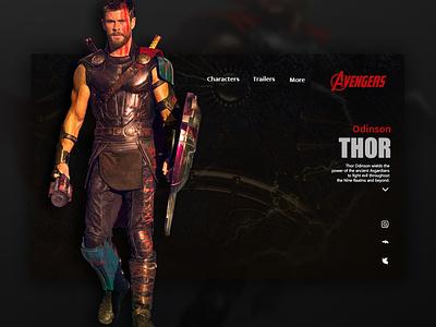 thor website uiux uxui uiuxdesign thor design avengers web ux ui