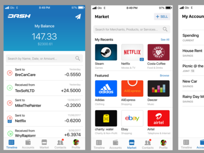 Dash Pay for iOS mockup