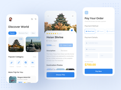 Travel app UI traveling mobile app travel agency travel app
