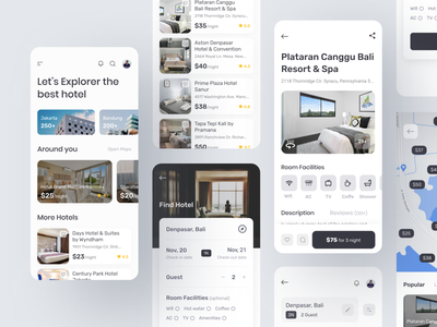 Hotel Booking App vacation travel app hotel app ui ux mobile app hotel booking app hotel booking