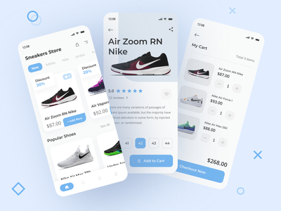 Sneaker Store App marketplace online store sneaker mobile app