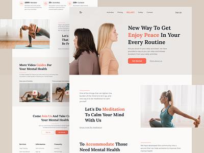Mental Health Website Homepage flat illustration landing page ui logo design header homepage ui ux web design branding graphic design