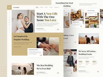 Wedding Website wedding flat logo ui design header homepage landing page web design illustration ui ux