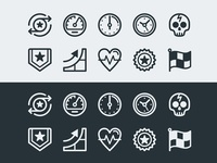 icon set for extreme sports man