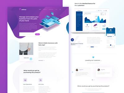 PSD Freebie : Sellmor Landing Page Exploration
