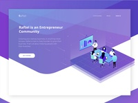 Header Illustration for Entrepreneur Community Site