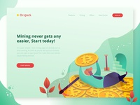 Header Illustration Exploration for bitcoin mining website