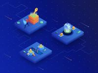 illustration for cryptocurrency exchange website - Sparkswap