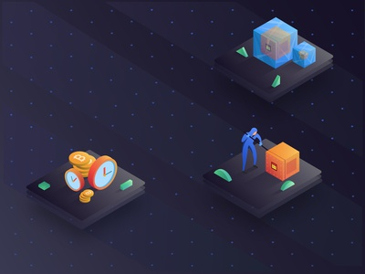 illustration for cryptocurrency exchange website - Sparkswap