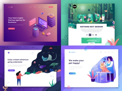 #Top4Shots on @Dribbble from 2018 crypto currency bitcoin isometric flat ui ux header landing page illustration top4shots