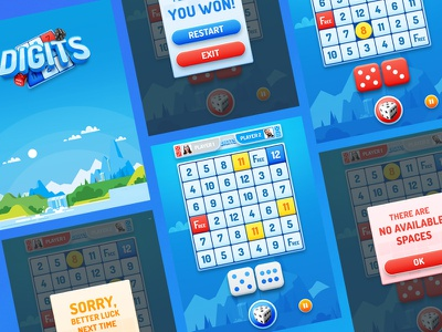 Game UI design gui illustration ipad tablet game asset game ui ux