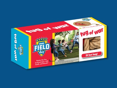 Franklin Field Day Tug of War packaging design package package design package designer packaging youth sports youthful sports design franklin sports franklin field day logo design learn logo design process and design branding and identity brand identity visual identity brand design branding brand branding design