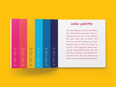 NSNY Color Palette color theory color scheme color design identity manual identity design branding design print design design process process brand guidelines style guide brand guide identity design brand design visual identity brand identity brand branding color palette color