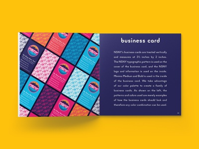 NSNY Business Cards pattern pattern design new york city visual identity business cards stationery identity manual identity design branding design print design process design process brand guidelines style guide brand guide identity brand design brand identity brand branding business card design