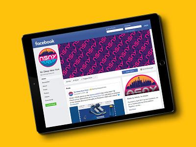 NSNY Facebook (Tablet) new york facebook pattern design pattern logo design logo website ui identity design branding design brand design branding brand brand identity visual identity design process design process graphic design mockups