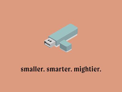 Smaller | Smarter | Mightier illustration vector icon design graphic design