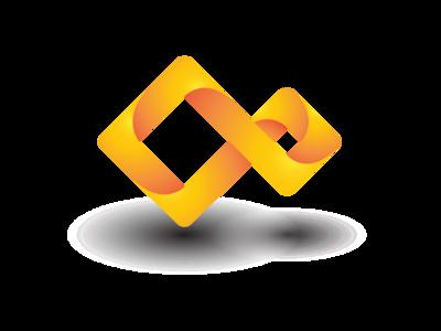 Shape continuous logo design
