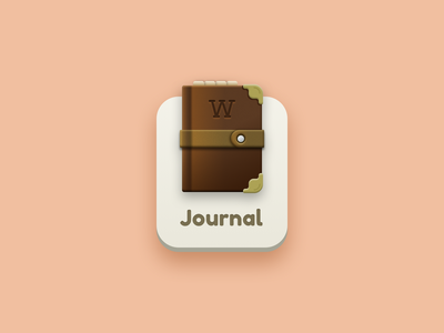 Journal icon illustration ui game journal book icon