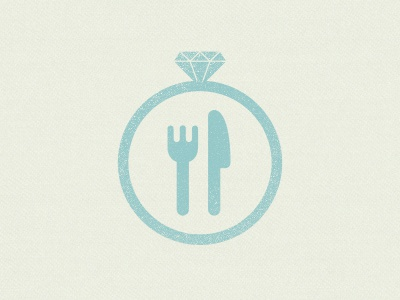 Wedding BBQ wedding ring knife fork bbq textured icon