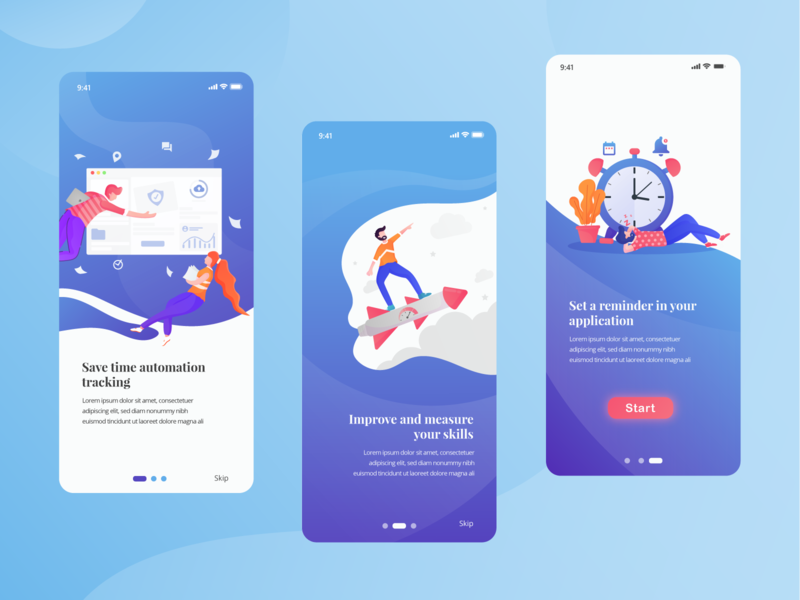 Onboarding Screen for Team Tracking App flatdesign icons ui ui ux user minimal mobile design color clean app ui ux designer ux apps screen apps design app mobile illustrations illustraion ui design ui ux design ui ux