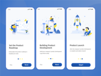UI/UX Onboarding screen for Launch Product Apps