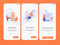 Clean UI screen for onboarding Project Management Apps