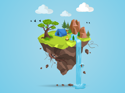 It's all good in the woods. illustration art graphic design camping camp vector island nature color illustrator dribble shot dribble adobe illustrator