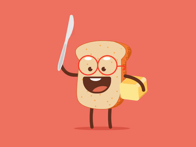 Bread Butter design animated gif video @chilli art vector typography gif ux ui animation illustration @daily-ui @animation @design @2x