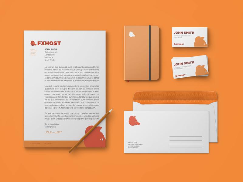 FXHost Branding letterhead digital artist golden ratio logo design logos logo brand design brand branding indesign photoshop design art illustration