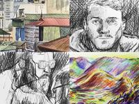 Travel Sketchbook: Nov '17 - Feb '18