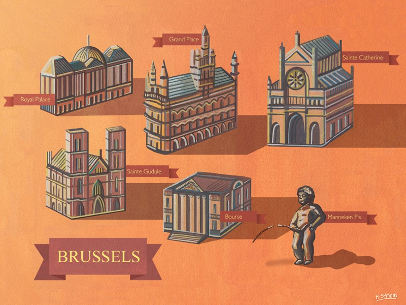 Brussels Illustrated Map