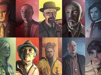 Every Breaking Bad Character - Illustrated